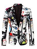 hesapli Erkek Blazerları ve Takım Elbiseleri-Erkek Blazer Çentik Yaka Polyester Bej XL / XXL / XXXL / İnce
