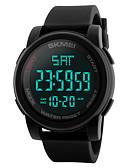Недорогие Цифровые часы-SKMEI Муж. электронные часы Цифровой Нержавеющая сталь силиконовый Черный / Синий / Зеленый 50 m Защита от влаги Календарь С двумя часовыми поясами Цифровой На каждый день На открытом воздухе -