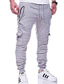 abordables Camisetas y Tops de Hombre-Hombre Básico Pantalones de Deporte Pantalones - Un Color Gris Oscuro Verde Ejército Gris Claro XL XXL XXXL