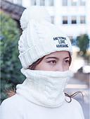 povoljno Ženski šeširi-Žene Jednobojni Aktivan Osnovni Slatka Style Pamuk Akril Poliester-Šešir širokog oboda Jesen Zima Bež Sive boje Lila-roza