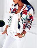 baratos Jaquetas Femininas-Mulheres Jaqueta de ternos Estampado, Gráfico Solto Azul L