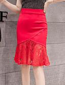 זול חצאיות לנשים-אחיד - חצאיות צינור בסיסי / מתוחכם בגדי ריקוד נשים