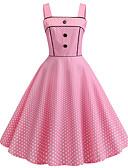 tanie W stylu vintage-Damskie Podstawowy Linia A Sukienka - Kolorowy blok Nad kolano