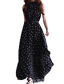 hesapli Print Dresses-Kadın's Çan Elbise Dik Yaka Maksi