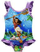 Χαμηλού Κόστους Στολές κολύμβησης-Μαγιό Κοστούμια μαγιό Cosplay Moana Παραλία κορίτσι Παιδικά Στολές Ηρώων Στολές Ηρώων Halloween Βυσσινί / Φούξια Κινούμενα σχέδια Εκτύπωση Χριστούγεννα Halloween Απόκριες