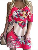 hesapli One-piece swimsuits-Kadın's Kılıf Elbise - Geometrik Diz üstü