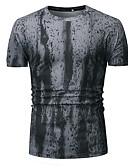 cheap Men's Tees & Tank Tops-Men's T-shirt - Color Block Round Neck White L