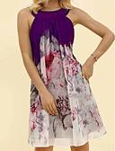 hesapli Mini Elbiseler-Kadın's A Şekilli Elbise Boyundan Bağlamalı Diz-boyu