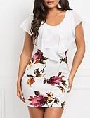 billiga Damklänningar-kvinnors mini bodycon klänning vitblå s m l xl