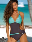 cheap One-piece swimsuits-Women's Green Blushing Pink Yellow One-piece Swimwear - Color Block L XL XXL Green