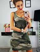 abordables Vestidos de Mujer-Mujer Elegante Corte Bodycon Vestido - Retazos, Color Camuflaje Sobre la rodilla