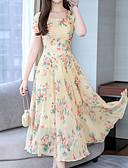 abordables Vestidos Estampados-Mujer Básico Vaina Vestido Floral Midi