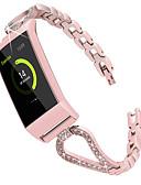 זול להקות Smartwatch-צפו בנד ל Fitbit Charge 3 פיטביט אבזם מודרני / עיצוב תכשיטים מתכת אל חלד רצועת יד לספורט