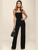 hesapli Mini Elbiseler-Cosplay Retro / Vintage Hippi 1970ler Disko Tulumlar Kıyafetler Kadın's Kostüm Siyah Eski Tip Cosplay Parti Günlük Mezunlar Günü Kolsuz Pantsuit