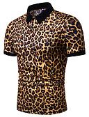 cheap Men's Shirts-Men's Polo - Leopard White XL