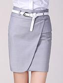 cheap Women's Skirts-Women's Basic Bodycon Skirts - Solid Colored Black Light gray S M L / Slim