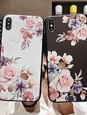 halpa iPhone kotelot-Etui Käyttötarkoitus Apple iPhone XS / iPhone XR / iPhone XS Max Himmeä / Kuvio Takakuori Kukka Pehmeä TPU