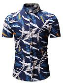 voordelige Herenoverhemden-Heren Overhemd Grafisch blauw XL