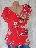 economico Bluse da donna-Blusa Per donna Cielo stellato Rosso XXXL