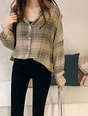 hesapli Bluz-Kadın's Gömlek Yaka Bluz Çizgili Siyah
