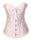 זול מחוכים ובוסטייה-בגדי ריקוד נשים קרס מחוך מעל החזה - דוגמת רשת, אבזם מידות גדולות אודם בז' קשת XXXXL XXXXXL XXXXXXL