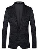 זול ז'קטים-מעוטר גזרה צרה פוליאסטר חליפה - פתוח Single Breasted One-button