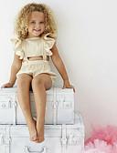זול סטים של ביגוד לתינוקות-מקשה אחת One-pieces כותנה ללא שרוולים דפוס פעיל / בסיסי בנות תִינוֹק / פעוטות