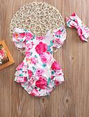 זול שמלות לתינוקות-מקשה אחת One-pieces כותנה ללא שרוולים פרחוני פעיל / בסיסי בנות תִינוֹק / פעוטות