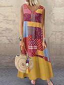 abordables Ropa árabe-Mujer Básico Vaina Vestido Geométrico Maxi