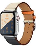 """זול רצועת שעונים-רצועת עור אמיתית עבור אפל שעון הלהקה 44 מ""""מ 40 מ""""מ 42mm 38mm צמיד wrist חגורת watchband עבור iwatch סדרה 4 3 2 1"""
