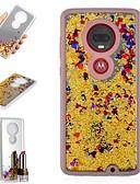 זול מגנים לטלפון-מגן עבור מוטורולה מוטו X4 / מוטו G7 / מוטו G7 פלוס עמיד בזעזועים / נוזל זורם / מראה כיסוי אחורי זוהר ונוצץ / צבע הדרגתי קשיח TPU