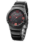 זול שעונים-CURREN בגדי ריקוד גברים שעוני שמלה Japanese קוורץ יפני שחור 30 m עמיד במים שעונים יום יומיים אנלוגי יום יומי אופנתי - שחור אדום כחול