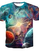 abordables Camisetas y Tops de Hombre-Hombre Estampado Camiseta Bloques / 3D / Caricatura Arco Iris XXXXL