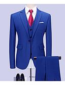 levne Romantická krajka-Pánské Obleky, Jednobarevné Košilový límec Polyester Vodní modrá XXXXL / XXXXXL / XXXXXXL
