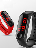 halpa Digitaalikellot-Miesten Digitaalinen Watch Digitaalinen Silikoni Musta / Valkoinen / Sininen 30 m Vedenkestävä Uusi malli Arkikello Digitaalinen Ulkoilma Muoti - Punainen Vihreä Sininen Yksi vuosi Akun käyttöikä