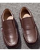 זול סטים של ביגוד לתינוקות-בנים נוחות עור נעליים ללא שרוכים פעוט (9m-4ys) / ילדים קטנים (4-7) / ילדים גדולים (7 שנים +) חום אביב