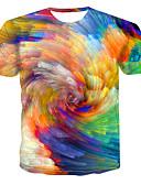 זול טישרטים לגופיות לגברים-קשת / קשירה וצביעה צווארון עגול מידות גדולות טישרט - בגדי ריקוד גברים דפוס קשת