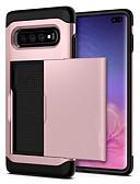 זול מגנים לטלפון-מגן עבור Samsung Galaxy S9 / S9 Plus / S8 Plus מחזיק כרטיסים / עמיד בזעזועים כיסוי אחורי אחיד קשיח PC