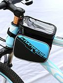 זול חלקי חילוף-טלפון נייד תיק תיקים למסגרת האופניים 6 אִינְטשׁ רכיבת אופניים ל מספרי טלפון גודל דומים אחרים ג'ינג'ר שחור / אדום כחול / שחור