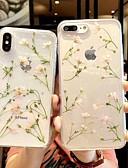 זול מגנים לאייפון-מגן עבור Apple iPhone XS / iPhone XR / iPhone XS Max שקוף / תבנית כיסוי אחורי שקוף / פרח רך TPU