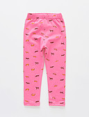 cheap Girls' Pants & Leggings-Kids Girls' Active Basic Solid Colored Print Print Cotton Leggings Fuchsia