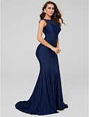 povoljno Vjenčanice-Sirena kroj Lađa izrez Srednji šlep Čipka Formalna večer Haljina s Aplikacije po TS Couture®