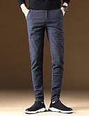 abordables Pantalones y Shorts de Hombre-Hombre Básico Chinos Pantalones - Un Color Azul Piscina Negro Gris 34 36 38