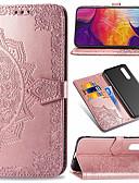 זול מגנים לטלפון-מגן עבור Samsung Galaxy Galaxy A7(2018) / Galaxy A9 (2018) / Galaxy A10 (2019) ארנק / מחזיק כרטיסים / נפתח-נסגר כיסוי מלא פרח קשיח עור PU / TPU