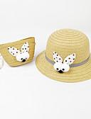 זול שמלות לבנות-מידה אחת ירוק בהיר / פוקסיה / חאקי כובעים ומצחיות אחיד / Houndstooth / אנימציה פעיל / בסיסי / מתוק בנות ילדים / פעוטות