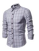 billige Herreskjorter-Herre - Ruder Skjorte Vin L