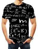 povoljno Muške majice i potkošulje-Veći konfekcijski brojevi Majica s rukavima Muškarci Slovo Okrugli izrez Print Crn XXXXL