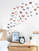 זול להקות Smartwatch-מדבקות קיר בצבע פרפר - מילים& amp ציטוטים מדבקות קיר / מדבקות קיר מדף תווים חדר לימוד / משרד / חדר אוכל / מטבח