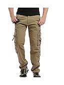 abordables Pantalones y Shorts de Hombre-Hombre Básico Tallas Grandes Chinos Pantalones - Un Color Gris Oscuro Verde Ejército Caqui 34 36 38