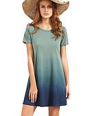 hesapli Bornozlar ve Pijamalar-Kadın's Temel Kılıf Elbise - Zıt Renkli Diz üstü